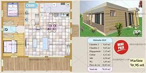 construction maison 60m2 segu maison With maison de 100m2 plan 11 maison modulaire elegance de 20m2 40m2 50m2 60m2