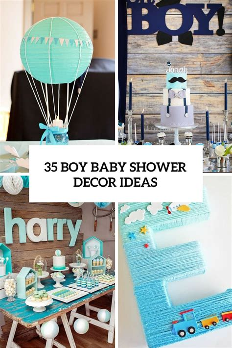 ideas for baby shower decorations for a boy 35 boy baby shower decorations that are worth trying digsdigs