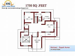 Home plan and elevation 1750 Sq Ft
