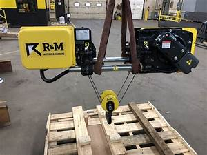3 Ton R U0026m Spacemaster Sx Low Headroom Wire Rope Hoist