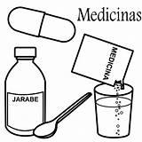 Coloring Medicines Medicina Para Colorear sketch template