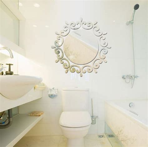 Circle mirror diy wall sticker wall decoration 24pcs. 3D Circle Wreath Silver DIY Shape Mirror Wall Stickers Home Wall Bedroom Office Decor | Alex NLD