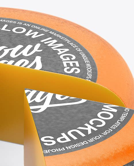 It made us lots of fun and joy to select the most beautiful mockups. Cheese Wheel Mockup in Packaging Mockups on Yellow Images ...