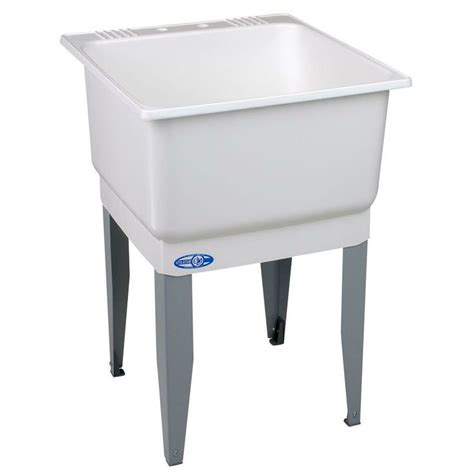 mustee utilatub 23 in x 25 in polypropylene laundry tub 14 at the home depot 25 98 laundry