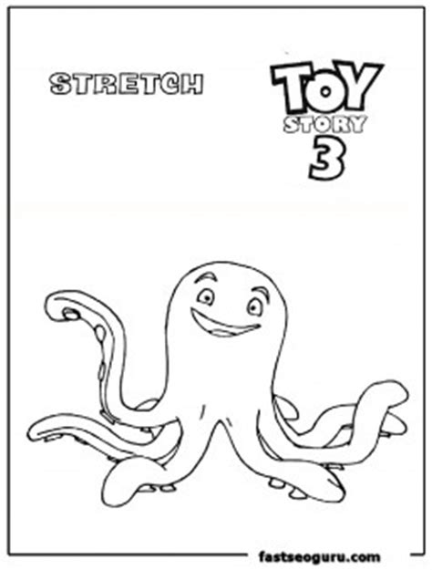 stretch toy story  coloring page print   kids coloring pages printable
