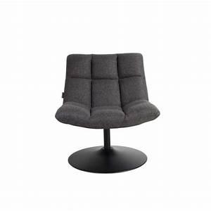 Fauteuil Tissu Pivotant Lounge Par Drawerfr