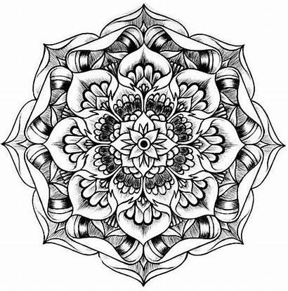 Mandala Coloring Pages Lotus Mandalas Drawing Therapeutic