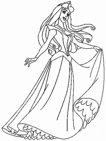 Sleeping Coloring Pages Bag Beauty Drawing Coloring4free