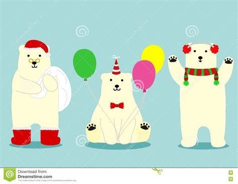 Cute Hipster Polar Bear With Glasses Stock Photo