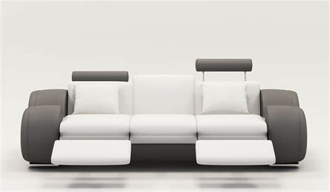 canape relax design deco in 9 canape design 3 places cuir blanc et