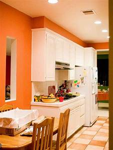 fresh orange kitchen interior design beautiful style With kitchen colors with white cabinets with wall art fashion