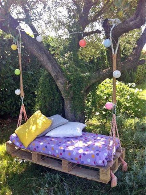 diy pallet hanging bed pallets designs