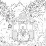Coloring Gazebo Pages Adult Theme Scrapbook Template Designlooter Customs Paper 600px 63kb sketch template