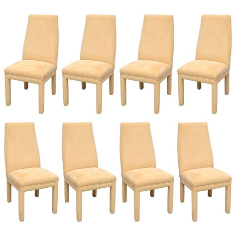 suede dining room chairs set of 8 dunbar rosewood and