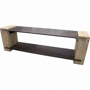Meuble Tv Metal : meuble tv metal vieilli et bois iron ~ Teatrodelosmanantiales.com Idées de Décoration