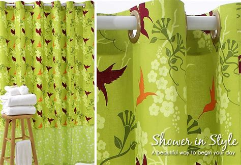 designer shower curtain with snap on grommets sew4home