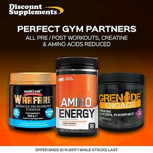 One Day Workout Sale  Post Workout Supps  Creatine  U0026 Aminos Reduced  Bodybuilding