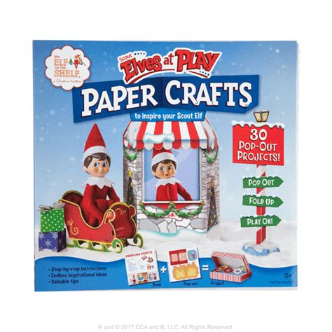 whats the name of zims elf on ladder with lights scout elves at play 174 paper crafts santa s store the on the shelf 174