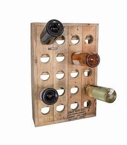 Porte Bouteille Mural : porte bouteilles mural en bois 20 bouteilles ~ Melissatoandfro.com Idées de Décoration