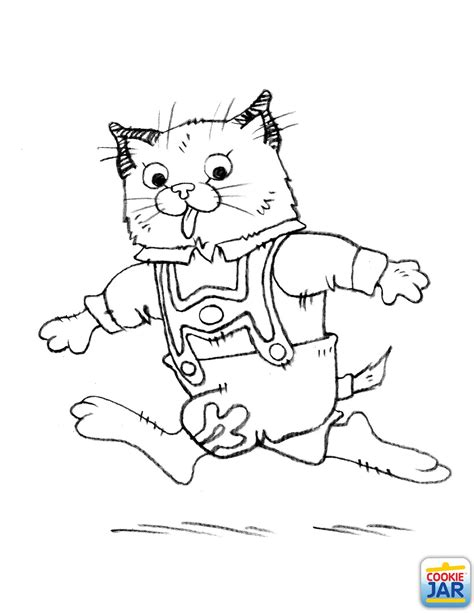 Huckle Cat coloring page | Richard Scarry Theme Birthday