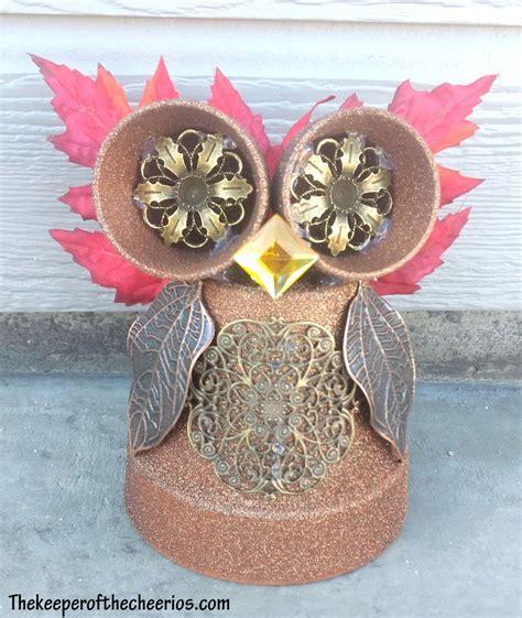clay pot owl  keeper   cheerios