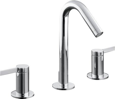 grohe bathroom faucets brushed nickel kohler k 942 4 cp kohler stillness widespread lavatory
