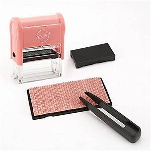 miseyo diy self inking stamp up to 3 lines customized With clothing label stamp