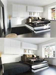 charmant idee amenagement cuisine petit espace 7 With idee amenagement salon cuisine
