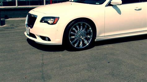 Chrome Rims For Chrysler 300 by 2015 White Chrysler 300 With Custom 22 Inch Chrome Rims
