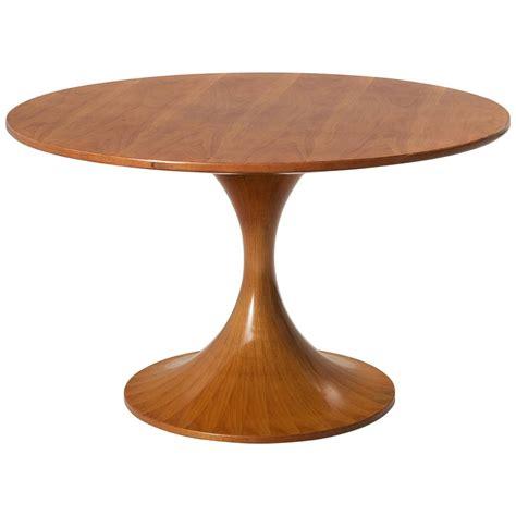 ashton round pedestal dining table luigi massoni wooden round pedestal dining table for sale