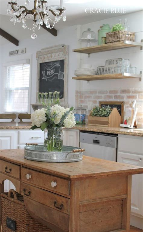 kitchen island decorating 38 best farmhouse kitchen decor and design ideas for 2019