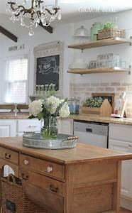 38 best farmhouse kitchen decor and design ideas for 2018 With best brand of paint for kitchen cabinets with farmhouse decor wall art
