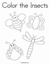Coloring Insects Pages Insect Bugs Twisty Twistynoodle sketch template