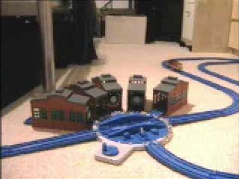 thomas trackmaster engine sheds turntable by tomy youtube