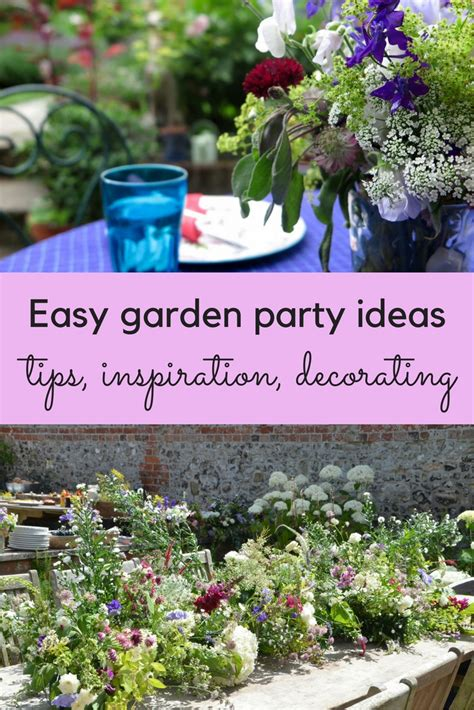 easy garden party ideas  inspiration  middle sized