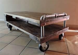Table De Salon Industrielle : meuble tv table basse de style industriel les ateliers du pom ~ Teatrodelosmanantiales.com Idées de Décoration