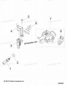 Polaris Atv 2018 Oem Parts Diagram For Engine  Fuel