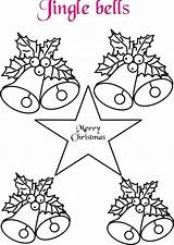 Bells Coloring Pages Jingle Christmas Pow Wow Drawing Bell Printable Fancy Template Google Colouring Getdrawings Sheets sketch template