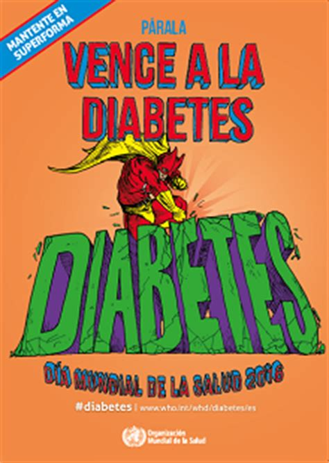 oms carteles mantente en superforma vence  la diabetes