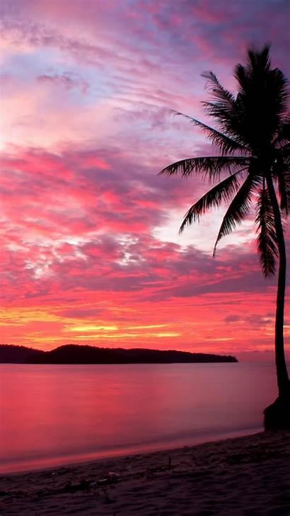 Sunset Iphone Wallpapers Phone Island Sky Nice