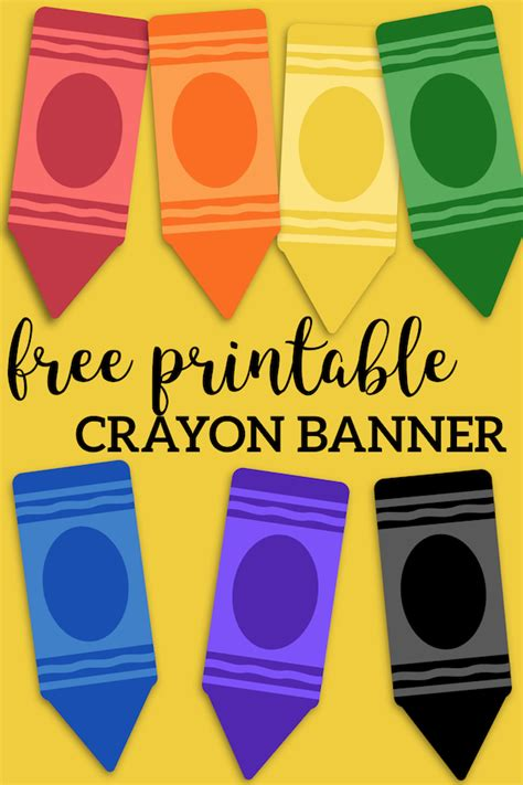 printable   school banner crayons paper trail