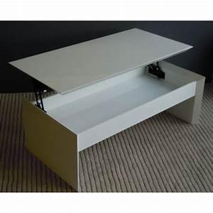 Table Basse Relevable Blanc Laqué : table basse plateau relevable blanc laque upside achat vente table basse table basse ~ Teatrodelosmanantiales.com Idées de Décoration