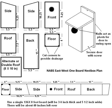 making bird houses plans construction tips
