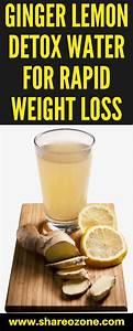 Ginger Lemon Detox Water For Rapid Weight Loss