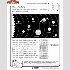 """planet Positions""  2nd Grade Free Science Worksheet For Kids #jumpstart  Js Science"