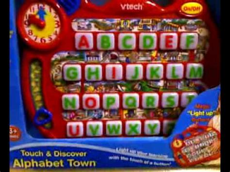 letters in the alphabet quot touch discover alphabet town quot 27969