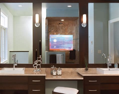 Tv Bathroom Mirror by How Mirror Tvs Work A Guide To Them Installed In