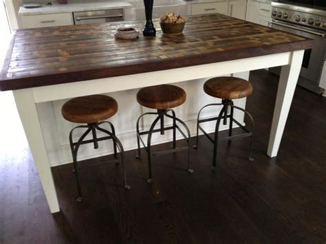 kitchen island made from reclaimed wood 15 reclaimed wood kitchen island ideas rilane