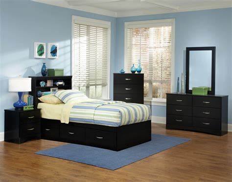 jacob twin black storage bedroom set kids bedroom sets