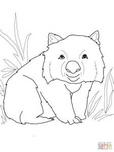Funny Wombat coloring page